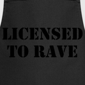 Licensed to Rave (Glow in the dark) - Cooking Apron