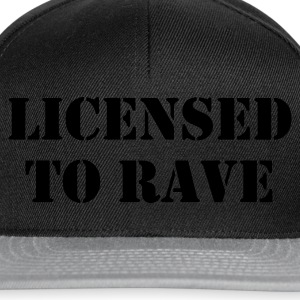 Licensed to Rave (Glow in the dark) - Snapback Cap