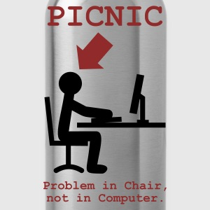 Svart Problem in Chair, not in Computer T-shirts (kort ärm) - Vattenflaska
