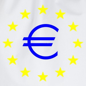 White EU Euro Stars T-Shirts - Drawstring Bag
