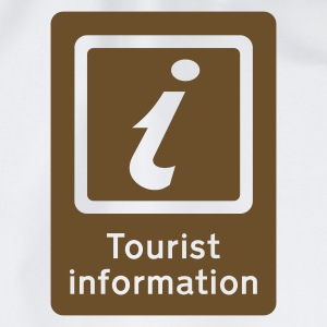 Weiß Tourist Information T-Shirt - Turnbeutel