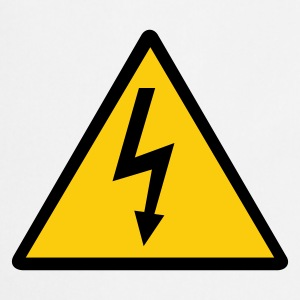 Attention,Symbol,Lightning,Electricity - Cooking Apron
