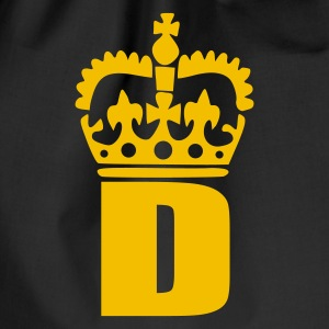 Black D - Crown - Letters T-Shirts - Drawstring Bag