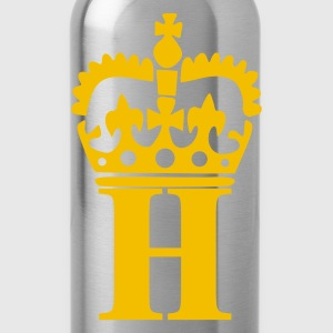 Black H - Crown - Letters T-Shirts - Water Bottle