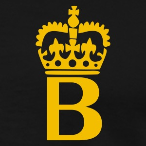 Sort B - Crown - Letters Poloshirts - Herre premium T-shirt