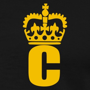 Sort C - Crown - Letters Poloshirts - Herre premium T-shirt