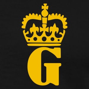 Sort G - Crown - Letters Poloshirts - Herre premium T-shirt
