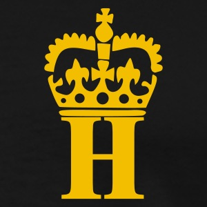 Sort H - Crown - Letters Poloshirts - Herre premium T-shirt