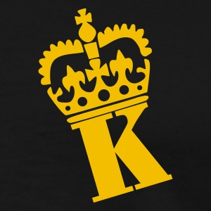 Sort K - Crown - Letters Poloshirts - Herre premium T-shirt