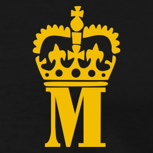 Sort M - Crown - Letters Poloshirts - Herre premium T-shirt