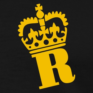 Sort R - Crown - Letters Poloshirts - Herre premium T-shirt