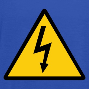 Attention,Symbol,Lightning,Electricity - Women's Tank Top by Bella