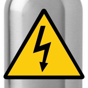 Attention,Symbol,Lightning,Electricity - Water Bottle