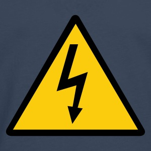 Attention,Symbol,Lightning,Electricity - Men's Premium Longsleeve Shirt