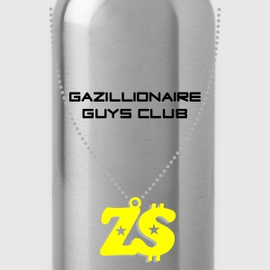 Black Gazillionaire Guys Club, Zimbabwe Men's Tees - Water Bottle