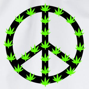 Weiß Hanf and Peace! T-Shirt - Turnbeutel