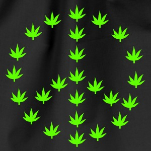 Schwarz Cannabis makes Peace! T-Shirt - Turnbeutel