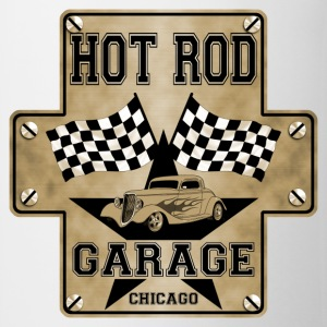 Hot Rod and racing flags - Tasse