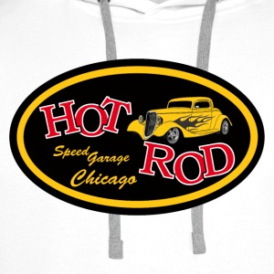 Hot Rod flaming - Sweat-shirt à capuche Premium pour hommes