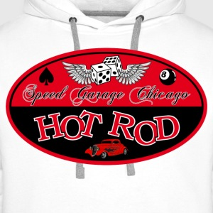 Red Hot Rod - Sweat-shirt à capuche Premium pour hommes