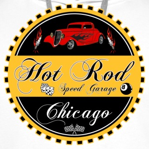 Hot Rod logo - Sweat-shirt à capuche Premium pour hommes
