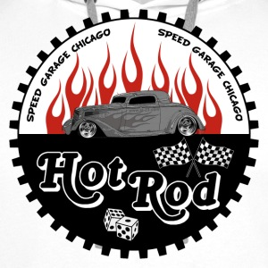 hot rod flamed - Sweat-shirt à capuche Premium pour hommes