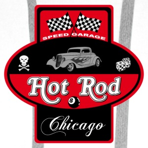 Hot Rod Factory - Sweat-shirt à capuche Premium pour hommes