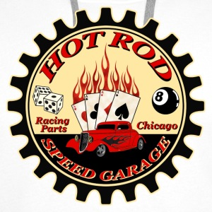 Hot Rod -vintage logo- - Sweat-shirt à capuche Premium pour hommes