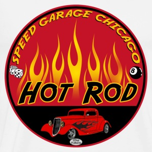 Hot Rod Flaming - T-shirt Premium Homme