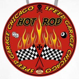 Red hot rod logo - Sweat-shirt à capuche Premium pour hommes
