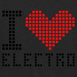 Black/white I heart love electro Bags  - Men's Sweatshirt by Stanley & Stella