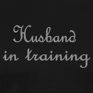 Zwart Husband in Training (bruiloft, wedding, hochzeit) Kookschorten - Mannen Premium T-shirt