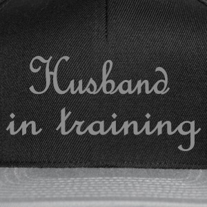 Zwart Husband in Training (bruiloft, wedding, hochzeit) Kookschorten - Snapback cap