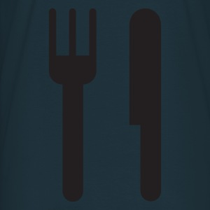 Navy knife and fork  Aprons - Men's T-Shirt
