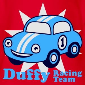 Red duffy racing team Juniors - Organic Short-sleeved Baby Bodysuit