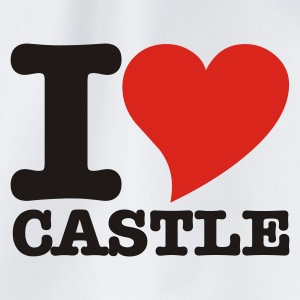 White I Love Castle Underwear - Drawstring Bag