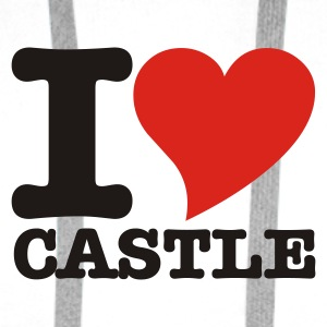 White I Love Castle Underwear - Men's Premium Hoodie