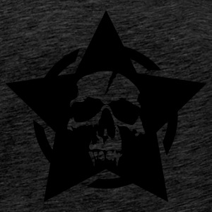 Brown star skull circle Jumpers - Men's Premium T-Shirt