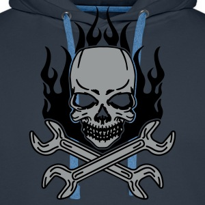 Tuning Skull Tee shirts - Sweat-shirt à capuche Premium pour hommes