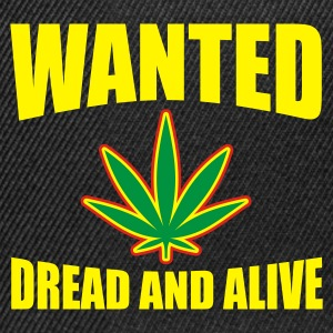 Black Wanted Dread & Alive Jumpers - Snapback Cap