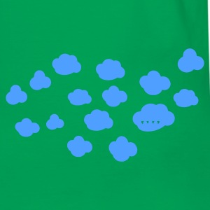 Light blue / white clouds Bags  - Men's Ringer Shirt