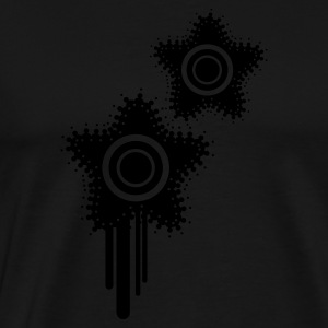 Black Grunge Splat Stars Jumpers - Men's Premium T-Shirt