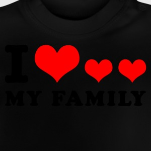 Navy I heart my family Kid's Tops - Baby T-Shirt