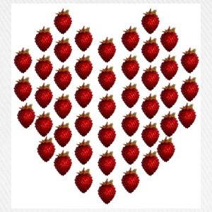 White strawberryheart  Aprons - Baseball Cap