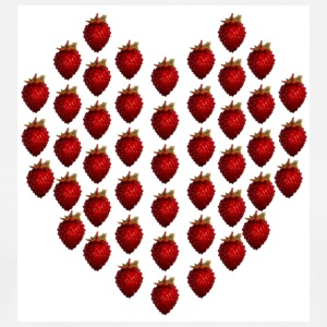 White strawberryheart  Aprons - Men's Premium T-Shirt