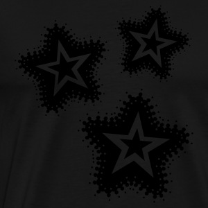 Black 3 Grunge Stars Jumpers - Men's Premium T-Shirt