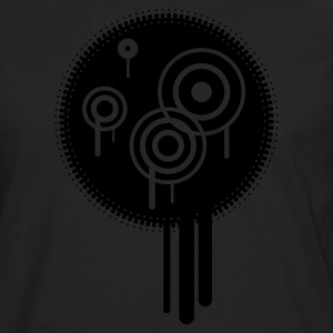 Black Grunge Splat Circle Jumpers - Men's Premium Longsleeve Shirt