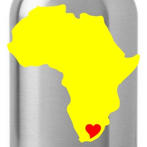 Yellow/green South Africa, Heart of Africa Men's Tees - Water Bottle