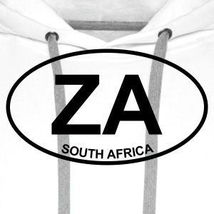 White ZA South Africa Men's Tees - Men's Premium Hoodie