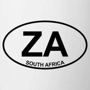 White ZA South Africa Men's Tees - Mug